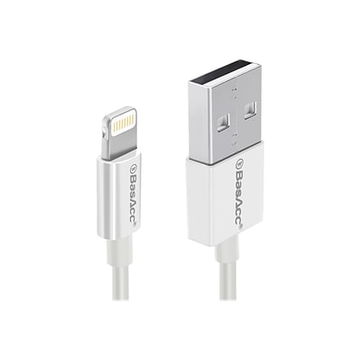 BasAcc Lightning USB Cable for Most Smartphones, White (2105796)