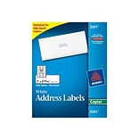 Avery Copier Address Labels, 1 x 2 13/16, White, 33/Sheet, 100 Sheets/Pack (5351)
