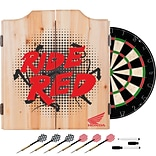 Honda Dart Cabinet Set with Darts and Board - Ride Red