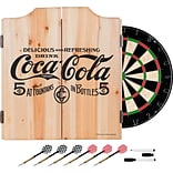 Coca Cola Dart Cabinet Set with Darts and Board - 5 Cents Black