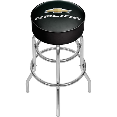 Chevrolet Padded Swivel Bar Stool - Chevy Racing