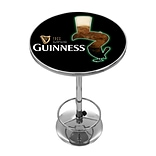 Guinness Chrome Pub Table - Feathering Pint