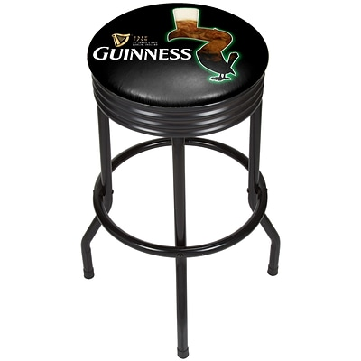 Guinness Black Ribbed Bar Stool - Feathering