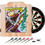 Coca Cola Dart Cabinet Set with Darts and Board - Pop Art Bottle