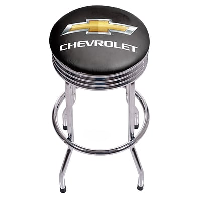Chevrolet Chrome Ribbed Bar Stool