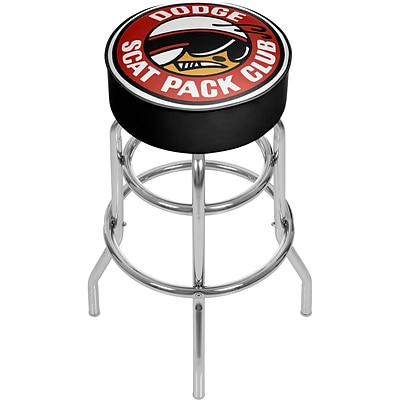 Dodge Padded Swivel Bar Stool - Scat Pack Club