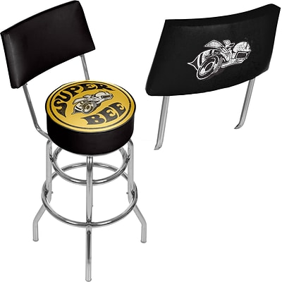 Dodge Bar Swivel Bar Stool with Back - Super Bee