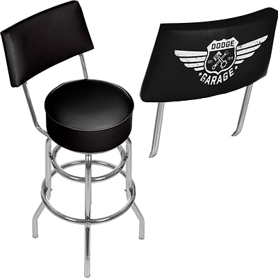 Dodge Garage Swivel Bar Stool with Back