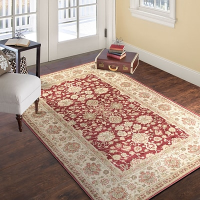 Lavish Home Vintage Flowered Rug - Red - 33 x 5