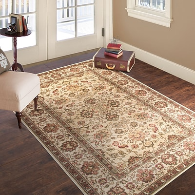 Lavish Home Vintage Flowered Rug - Ivory - 4 x 6