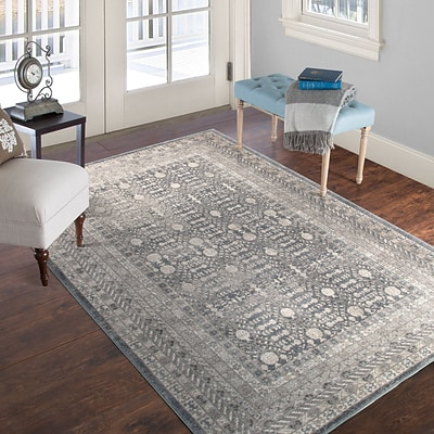 Lavish Home Vintage Greek Rug - Grey Brown - 5 x 77