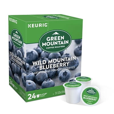 Green Mountain Wild Mountain Blueberry Coffee, Keurig® K-Cup® Pods, Light Roast, 24/Box (6783)