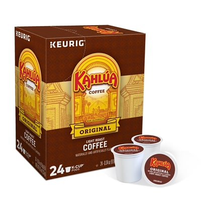 Kahlua Original Coffee, Keurig K-Cup Pods, Light Roast, 24/Box (4141)