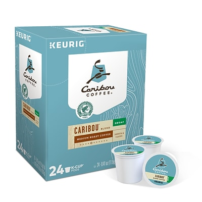 Caribou Blend Decaf Coffee, Keurig K-Cup Pods, Medium Roast, 24/Box (6995)