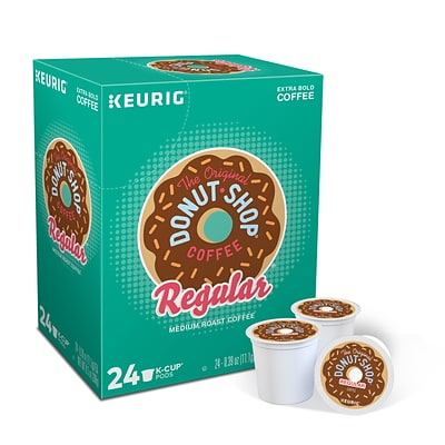 Donut Shop® Coffee, Keurig® K-Cup® Pods, Medium Roast, 24/Box (DIE60052101)