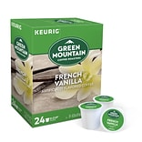 Green Mountain French Vanilla Coffee, Keurig® K-Cup® Pods, Light Roast, 24/Box (6732)