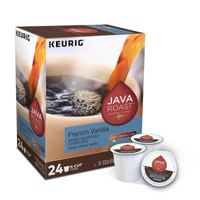 Java Roast French Vanilla Coffee, Keurig® K-Cup® Pods, Light Roast, 24/Box (55237)