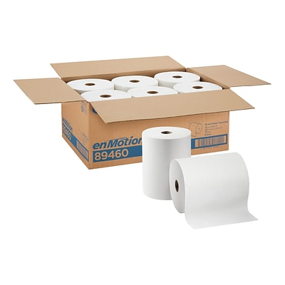 enmotion Hardwound Paper Towels, 1-Ply, 6 Rolls/Carton (89460)