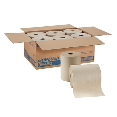 enMotion® Recycled Paper Towel Roll by GP PRO, Brown, 800 Feet Per Roll, 6 Rolls/Carton (89480)