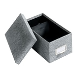 Globe-Weis Index Card File Box, Black Agate, 1000 Card Capacity (GLW 94 BLA)