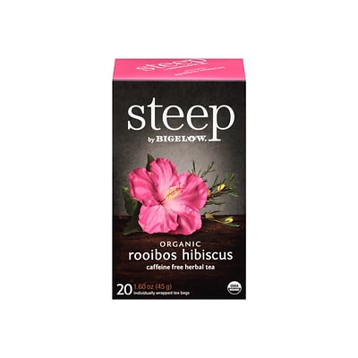 Steep Herbal Tea Bags, 20/Box (17713)
