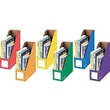 Bankers Box 12.88 x 4.25 x 11.38 Cardboard Magazine File, Assorted Colors, 6/Pack (3381901)