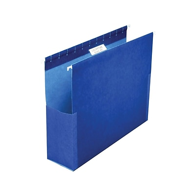 Pendaflex SureHook Reinforced Hanging File Folders with Box Bottom, 1/5-Cut Tab, Legal Size, Blue, 25/Box (PFX 59303)