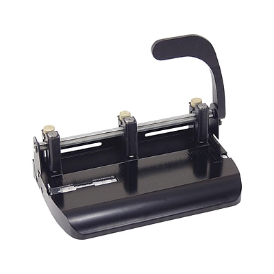 OfficeMate Adjustable Punch, 32 Sheet Capacity, Black (90078)
