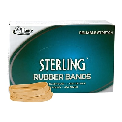 Alliance Sterling Multi-Purpose Rubber Bands, #64, 1 lb. Box, 425/Box (24645)