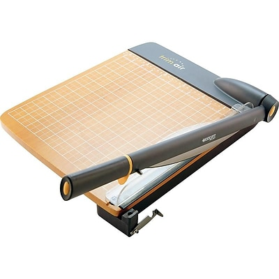 Westcott TrimAir Titanium Wood 12 Guillotine Trimmer, Black/Wood (ACM15106)