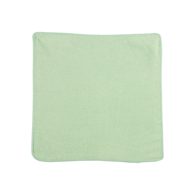 Rubbermaid Light Commercial Microfiber Rags, Green, 24/Pack (1820578)