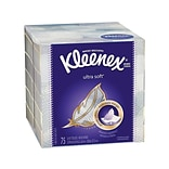 Kleenex Ultra Soft Standard Facial Tissues, 3-Ply, 65 Sheets/Box, 27 Boxes/Pack (25824)