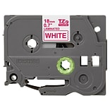 Brother TZE242 Label Maker Tape, 0.7W, Red On White