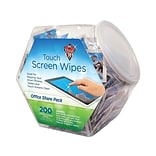 Falcon Dust-Off Touch Screen Wipes, Office Share Pack, 200/Pack (DMHJ)