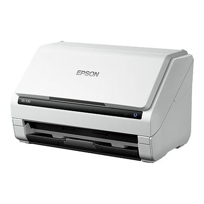 Epson DS-530 B11B236201 Desktop Scanner, Black/White