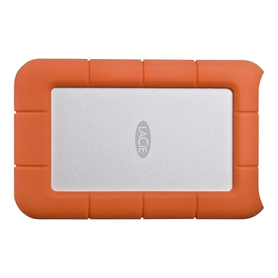 LaCie Rugged Mini 2TB USB 3.0 External Hard Drive, Orange/Silver (LAC9000298)