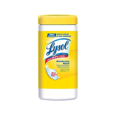 Lysol Disinfecting Wipes, Lemon and Lime Blossom, 80/Box (1920077182)