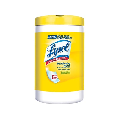 Lysol Disinfecting Wipes, Lemon and Lime Blossom, 110/Pack (1920078849)