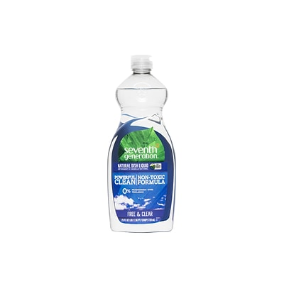 Seventh Generation Free & Clear Dish Soap Liquid, Unscented (22733)