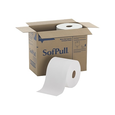 SofPull Premium Centerpull Paper Towels, 1-ply, 560 Sheets/Roll, 4 Rolls/Carton (28143)