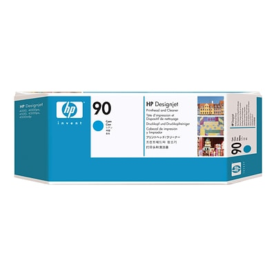 HP 90 DesignJet C5055A Printhead and Printhead Cleaner, Cyan