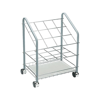 Safco Steel 12 Rolled File Cart Gray 3090