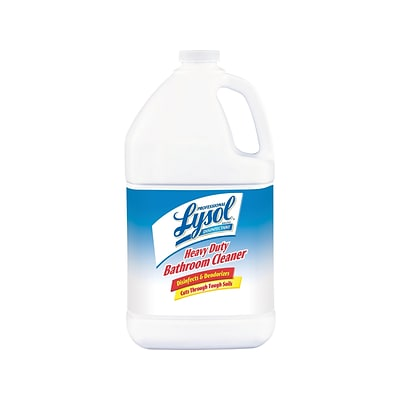 Professional Lysol Disinfectant Heavy Duty Bathroom Cleaner, Fresh Lime, 128 Oz. (36241-94201)