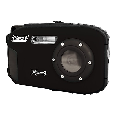 Coleman Xtreme3 C9WP 20 Megapixels Point & Shoot Waterproof Camera, Black