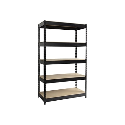 Iron Horse 3800 lb. Rivet Series 5-Shelf Metal Unit, 48W, Black (19453)