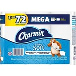 Charmin Ultra Soft Mega 2-Ply Standard Toilet Paper, White, 284 Sheets/Roll, 18 Rolls/Pack (99862)