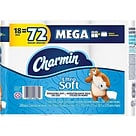 Charmin Ultra Soft Mega 2-Ply Standard Toilet Paper, White, 264 Sheets/Roll, 18 Rolls/Pack (52776)