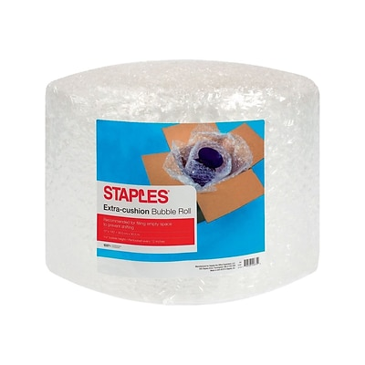Staples 5/16 Bubble Roll, 12 x 100, Clear (4069425)