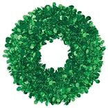 Amscan Tinsel Wreath, Green, 17, 2/Pack, (240608)