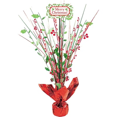 Amscan Christmas Foil Spray Centerpiece, 18, 2/Pack (110086)